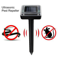 Ultrasonic Solar Powered Sonic Pest Repeller Outdoor Garden Rat Snake Repellent