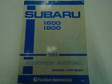 1982 Subaru 1600 1800 Service Repair Shop Engine Body Manual FACTORY OEM BOOK