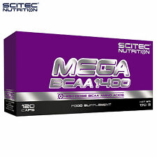MEGA BCAA 1400 120Caps. Amino Acids Lean Muscle Growth Biggest Dose Anabolic