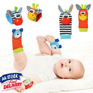 Baby Animal Socks Rattles Hand Wrist Toys New Handbells Soft