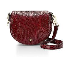 NWT Rebecca Minkoff Bordeaux Python Leather Astor Saddle Bag