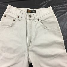 Khaki Jeans Size 3/4 Petite Relaxed Fit Style # 7260 Beige Denim 3 / 4