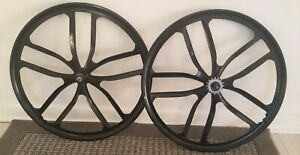 "26"" BMX Cruiser CNC 10 Spoke Mag Wheel set redline haro gt dyno hutch se sunday"