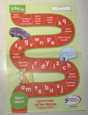 Hooked On Phonic PreReading Progress Poster! Lowercase Letter Names! Replacement
