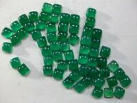 11x11mm To 20x20mm- Natural Green Onyx Square Cabochon Loose Gemstone-Onyx AAA