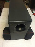 BOSE ACOUSTIMASS 9 POWERED SUBWOOFER WITH  2 CUBIC SPEAKERS