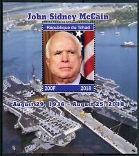 Chad 2018 MNH US Senator John McCain 1v M/S Politicians Famous People Stamps