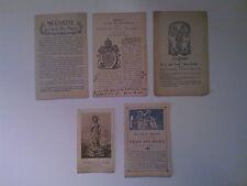 LOT de 4 SIGNETS & 1 IMAGE ANCIENS :  LES 3 AVE MARIA, années 1920
