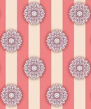 Selbstklebende Tapete Streifen Blüten glänzende Seide dunkel Vinyltapete