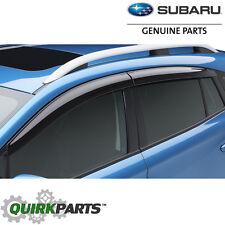 2017-2018 Subaru Crosstrek Impreza 5-Door Side Window Deflectors OEM F0010FL030