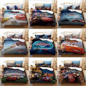 The Cars Duvet Cover Set Pillowcase Lightning McQueen NO.95 Bedding Set Bed Gift
