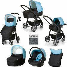 NEW Hauck Lacrosse 3in1 Travel System Pushchair Pram+Carseat+Carrycot Aqua