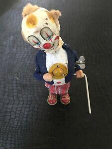 jouet ancien années 60 automate clown avec canne