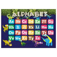Abc Alphabet Poster, Kids Educational Wall Chart, Classroom, Dinosaurs Theme