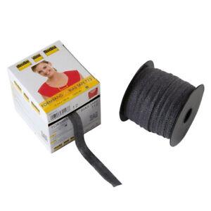 Black Formband by Vlieseline. Flexible,Iron on Grain Reinforced Bias Binding T12