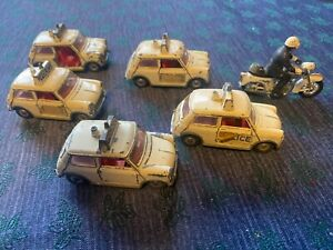 Police Meccano Dinky minis x 5 and motorcycle