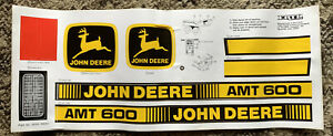 Decal for John Deere AMT600 Plastic Pedal Tractor - new NOS by Ertl