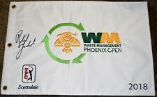 Phil MICKELSON Signed 2018 Waste Management Phoenix Open Flag - 3x Champion
