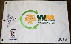 Phil MICKELSON Signed 2018 Waste Management Phoenix Open Flag - 3x Champion  PSA
