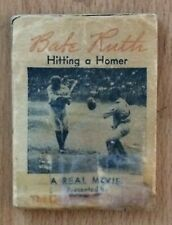 "1934 Babe Ruth ""Hitting A Homer"" Baseball Moviescope Quaker Flip Movie Book"