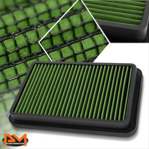 For 92-02 Corolla/Millenia/Prizm Reusable Multilayer High Flow Air Filter Green