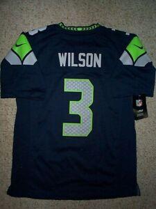 *IRREGULAR* Seahawks RUSSELL WILSON nfl NIKE Jersey YOUTH KIDS BOYS (L-LG-LARGE)