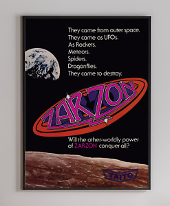 Zarzon Arcade Video Game Retro Print Poster 18x24 inches