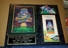 Super Bowl XXVIII Dallas Cowboys Buffalo Bills Rare Program Ticket Plaque!
