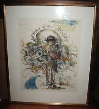JUNSUKE WATARAI Japanese Artist -Limited Edition Etching Print Signed & numbered