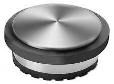 Türstopper 1,3 kg Edelstahl gummierter Ring silber schwarz REFLECTS