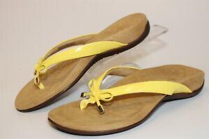 Vionic Bella II Womens 7 38 W Wide Yellow Thongs Flip Flops Sandals Flats Shoes