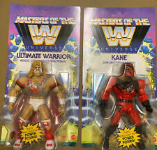WWE Masters of the Universe Wave 6 set of 2 figures Kane Ultimate Warrior He-Man