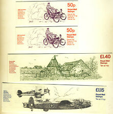 4 Great Britain stamp Booklets all MNH from 1981