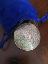 Pink Flower Of Life Sacred Geometry Mother Of Pearl Pendant. Original Sacred Geo