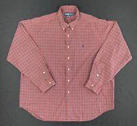 Polo Ralph Lauren Marlowe Red Green Plaid Long Sleeve Button-Down Shirt XXL 2XL