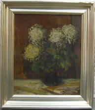 Chrysanthèmes Nature Morte Um 1920 -ölgemälde Signé