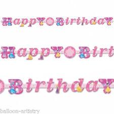 DISNEY Princess Stile PARTY HAPPY BIRTHDAY, aggiungere un' età lettera Banner Decorazione