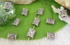 80pcs Tibetan silver spiral square spacer beads FC10479