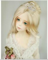 King's shop WIG bjd SD 8-9 size for 1/3 doll blonde Hepburn pricess