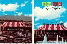 Circus Circus Hotel Casino Las Vegas Nevada Vintage 1970's Retro Tent Postcard