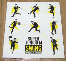SUPER JUNIOR M 3rd Mini Album SWING K-POP CD + PHOTOCARD + POSTER IN TUBE CASE