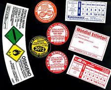 1000 ETICHETTE PER ESTINTORI   (adesivi manutenzione)