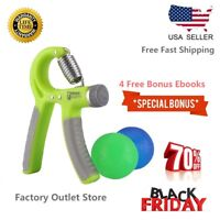 Hand Grip Gripper Strength Trainer Adjustable Strengthener Exerciser TherapyBall