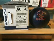 Ebonite Omni GSV Solid 14lbs NIB & Undrilled With Great Box Spec.'s & Big Hook!!