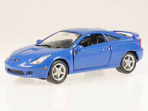 Toyota Celica 2002 blue diecast model car 42327 Welly 1:37
