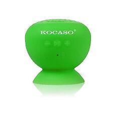 KOCASO Mini Waterproof Bluetooth Wireless Shower Speaker With Built in Green