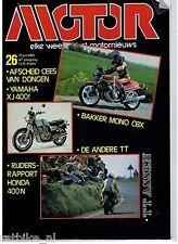 MO8026-HONDA 400N, BAKKER HONDA MONO CBX,VAN DONGEN,NIEDORP