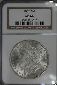 1887  $1 NGC  MS64 VAM-16 DBL EAR HOT 50  Morgan Silver Dollar, $1