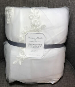 Pottery Barn Kids Monique Lhuillier Lace Applique Twin Bed Skirt Something Blue