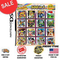 500 in 1 Games Card Cartridge Multicart For Nintendo DS NDS NDSL NDSi 3DS 2DS XL